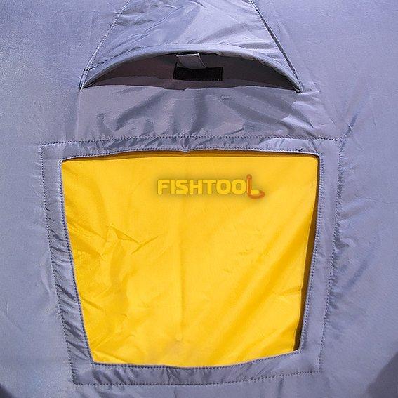 Окно и вентиляционной клапан палатки Fishtool