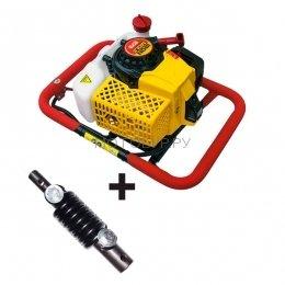 Мотобур ( бензобур ) Iron Mole E73 с адаптером Flex-Coil